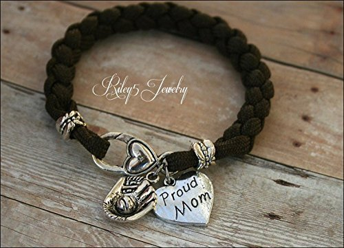 proud baseball mom bracelet