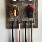 custom bat and hat rack