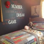 baseball bedroom wall quote painting