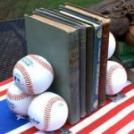 baseball-bookends