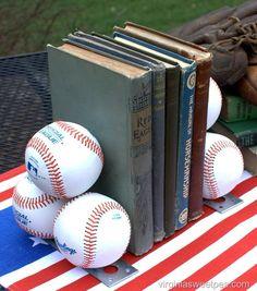 baseball-bookends
