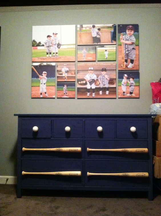 Baseball Dresser With Bat Handles
