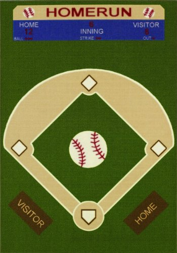 "All Stars Baseball Ground Kids Rug Rug Size: 3'3"" x 5'"