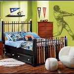 baseball-themed-bedroom-with-bat-bed