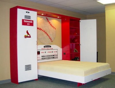 Baseball Themed Bedroom With Locker
