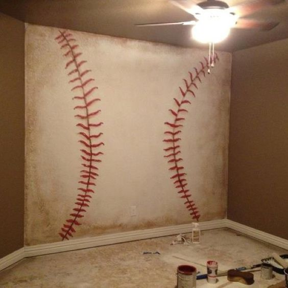 Baseball Thread Large Wall Painting