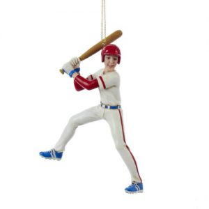 boy baseball player ornament