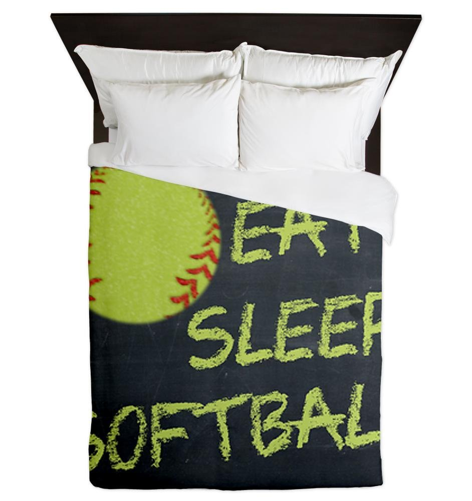 CafePress – Eat, Sleep, Softball – Queen Duvet Cover