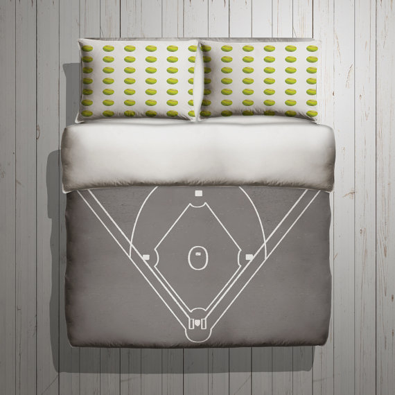 Softball dreams field Duvet