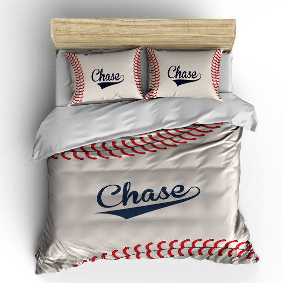 monogram baseball bedding