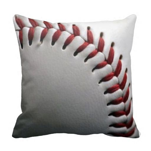 new baseball image pillow