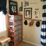 baseball bat rack and shelf idea