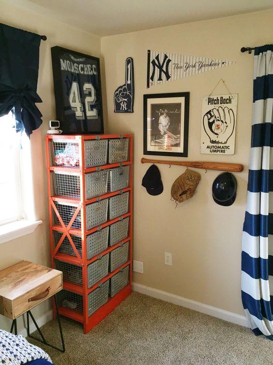 Baseball themed bedroom ideas for Baseball bedroom ideas