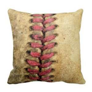 vintage baseball pillow