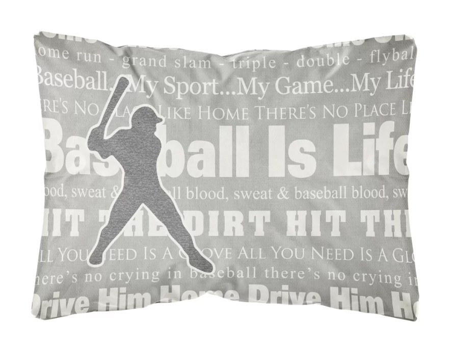 Wayfair baseball is life pillow