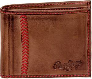 rawlings tanned leather wallet
