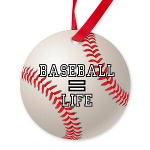 baseball is life ornament