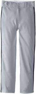 easton youth gray piped baseball pants
