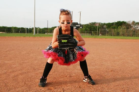 badass softball player in tutu