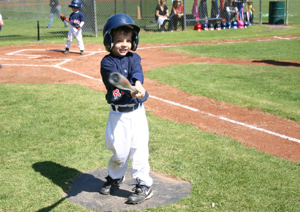 youth baseball player on deck