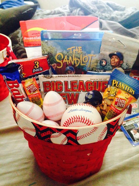 baseball easter basket