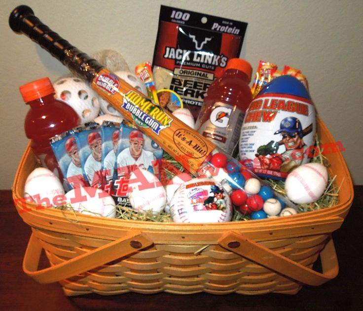 make a baseball easter basket for your baseball fan