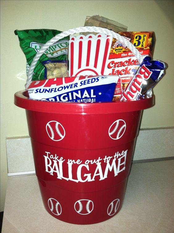 baseball easter bucket