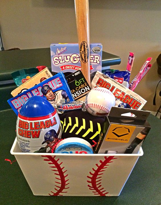 Make a baseball easter basket for your baseball fan baseball easter basket negle Images