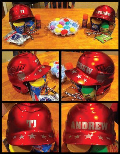 baseball helmet gift set