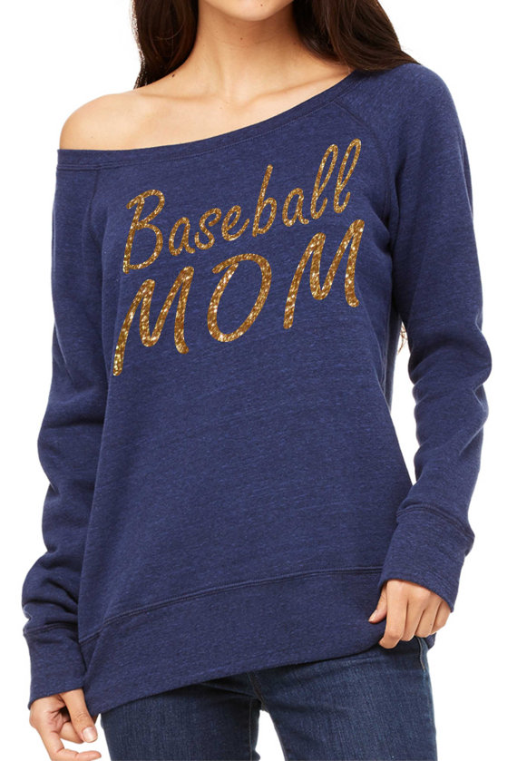 womens baseball mom sweatshirt