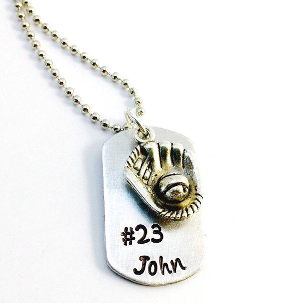 custom baseball dog tag necklace