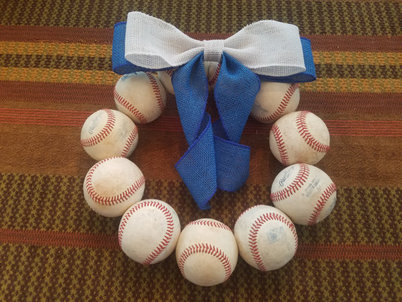beautiful baseballidays custom baseball holiday wreath