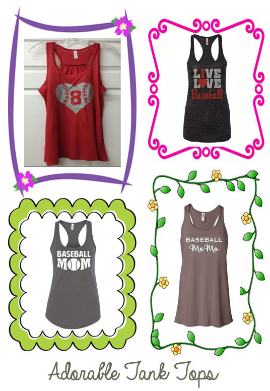 etsy baseball mom tank tops