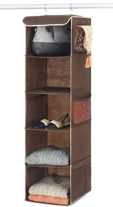 hanging closet clothing organizer