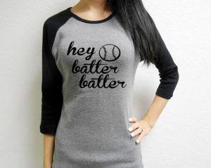 hey batter batter baseball mom shirt
