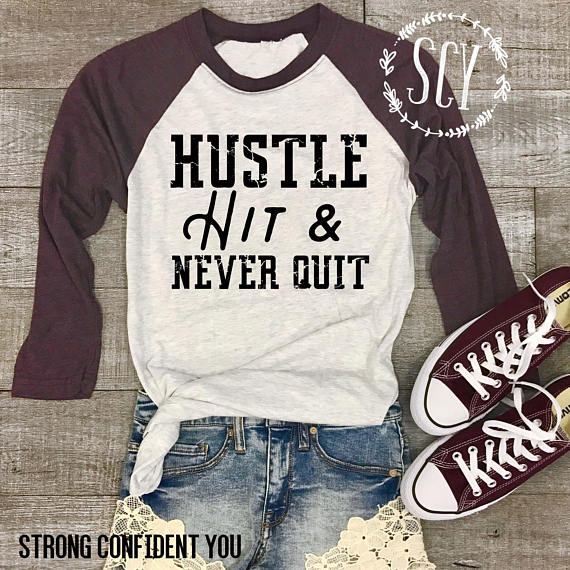 hustle hit & never quit shirt