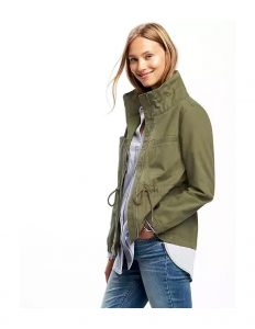 twill field jacket army green