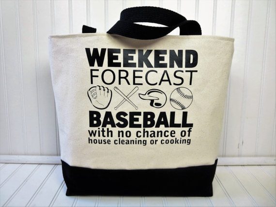 weekend forecast baseball bag