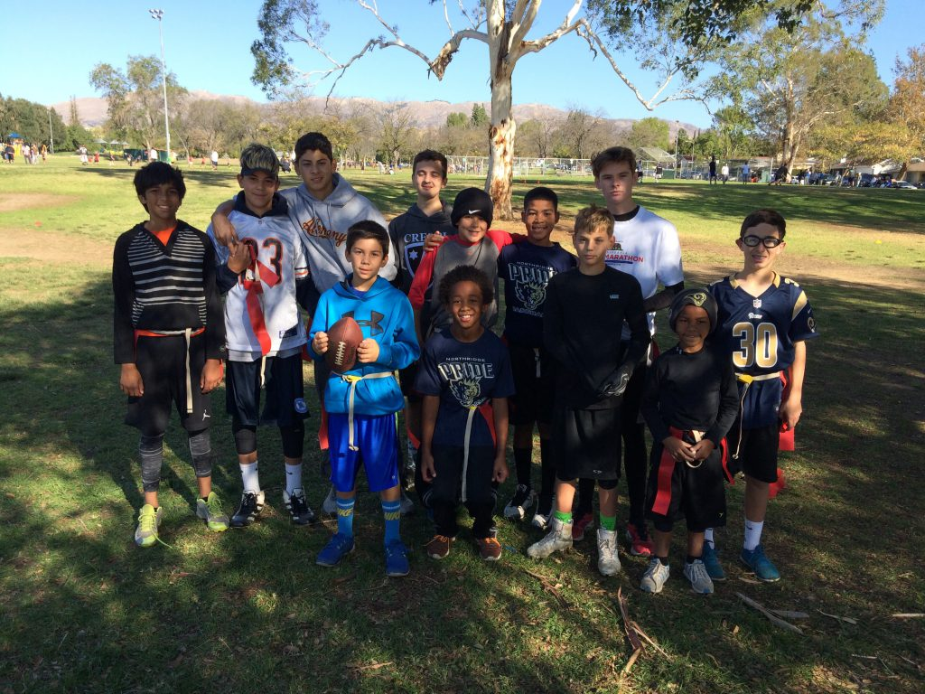 turkey bowl flag football players