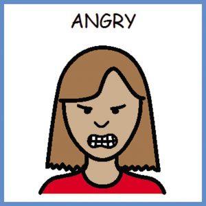 angry woman drawing