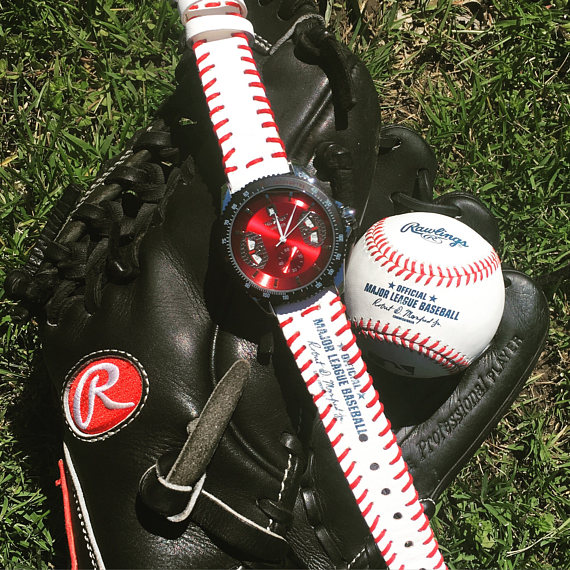 baseball watch on glove