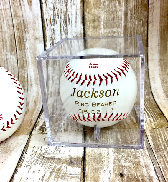 personalized baseball in case