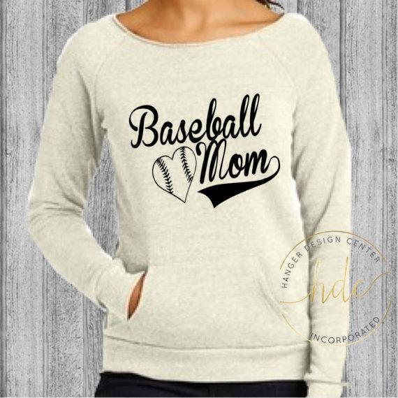 oatmeal baseball mom sweatshirt