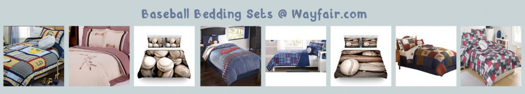 wayfair baseball bedding banner