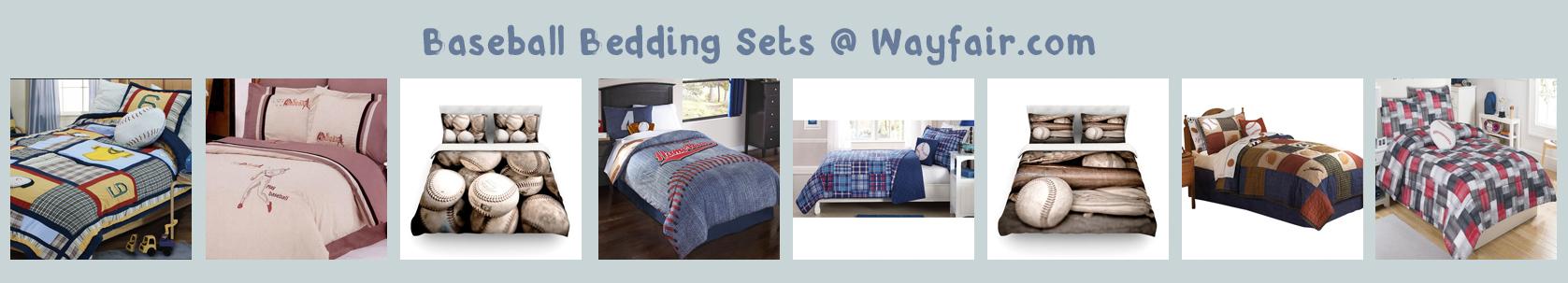 wayfair baseball bedding banner