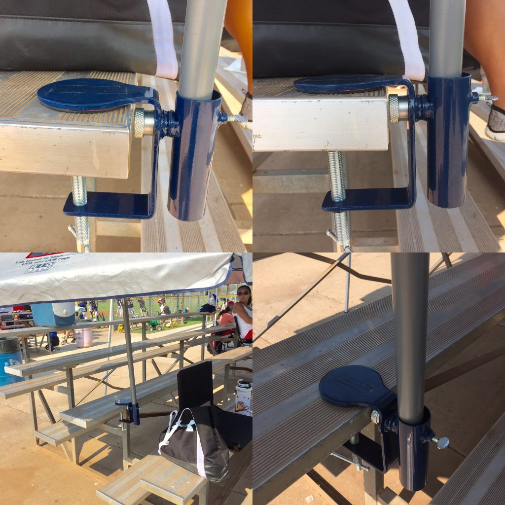 bleacher umbrella holder
