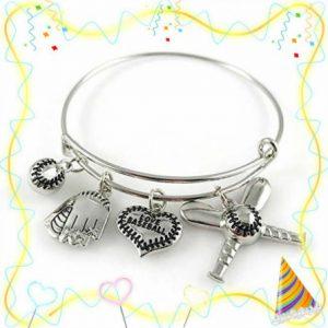 baseball bangle bracelet