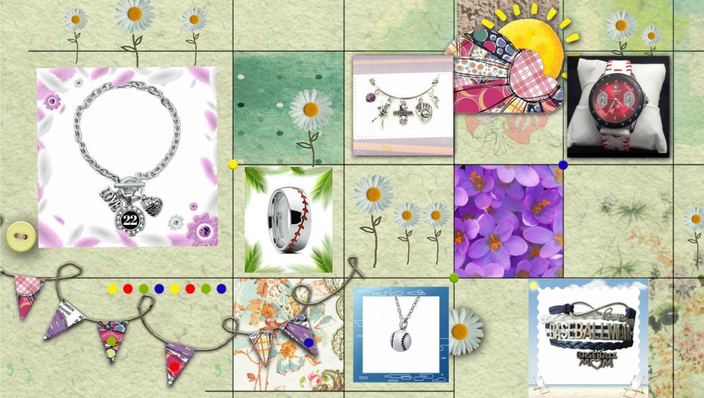 baseball jewelry collage party theme