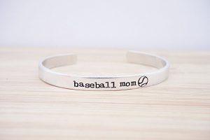 baseball mom cuff bracelet