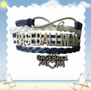 baseball mom stacked bracelet